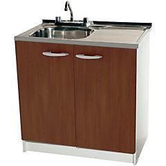 Conjunto mueble para lavaplato de 80 cm derecho