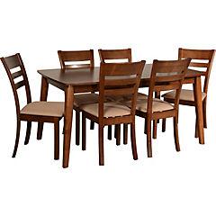 Juego de comedor Bari 6 sillas 160x90 cm