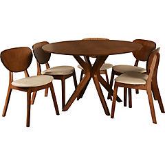 Juego de comedor Milan 6 sillas 120x120 cm