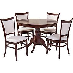 Juego de comedor Calabria 4 sillas 106x106 cm