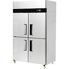 Refrigerador industrial frio directo 2 cuerpos 4 medias puertas 900 litros