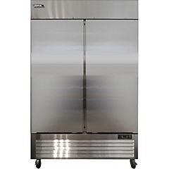 Freezer industrial frío directo 2 cuerpos 2 puertas 1300 litros