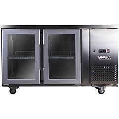 Mesón refrigerado no-frost 2 puertas de vidrio 280 litros