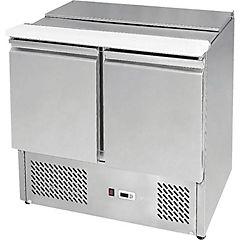 Mesón saladette frío directo 2 puertas 200 litros