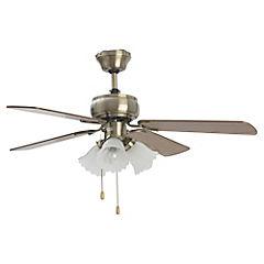 Ventilador Cielo 50W 4 Aspas 3 Luces