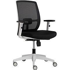 Silla PC  Et operativa blanca  malla asiento negro