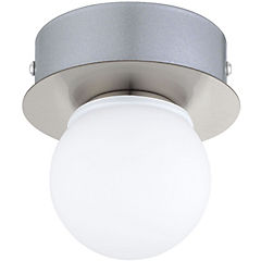 Aplique led Mosiano acero inoxidable blanco 1 luz 3,3W IP44