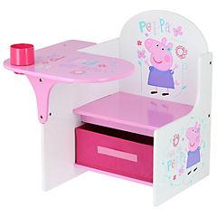 Pupitre con cajón 58x51 cm blanco/rosado