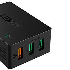 Cargador 3 puertos USB con carga rápida 3.0