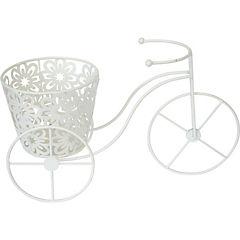 Bicicleta flower blanca 29x20x13 cm