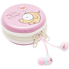 Earbuds estuche kids rosa