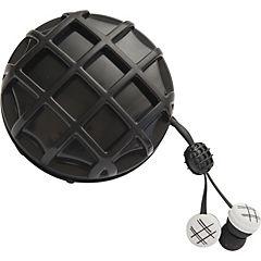 Earbuds waffle kids negro