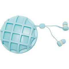 Earbuds waffle kids azul