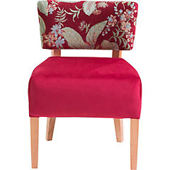 Poltrona 1 cuerpo color rojo, tela felpa respaldo tapizado