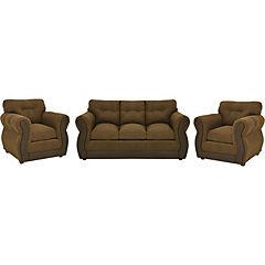 Living café, tela chenille,asiento espuma alta densidad