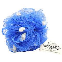 Esponja de baño shampoo 15 lavados pouf azul