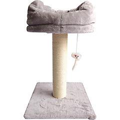 Rascador gato 1 piso gris