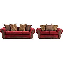 Juego de Living sofá 3 cuerpos + sofá 2 cuerpos terracota