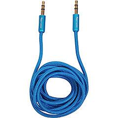 Cable de audio 3.5mm, 1.8mts azul
