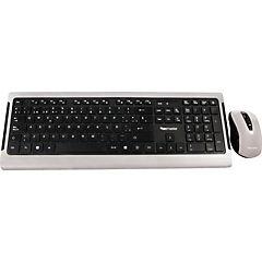 Kit teclado y mouse inálambrico negro/plateado