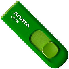 Pendrive 8gb retráctil verde USB 2.0