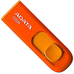 Pendrive 8gb retráctil naranjo USB 2.0