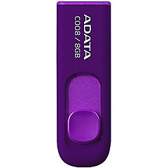 Pendrive 8gb retráctil purpura USB 2.0