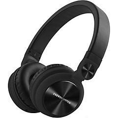 Audífono dj2 plegable negro con micrófono