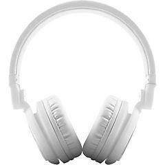 Audífono dj2 plegable blanco con micrófono