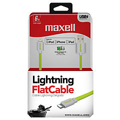 Cable Ligtning Flat Mfi Alta Velocidad 1,8M Lima/Gris