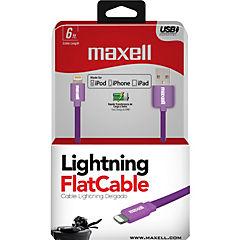Cable Ligtning Flat Mfi Alta Velocidad 1,8M Rosado/Purpura