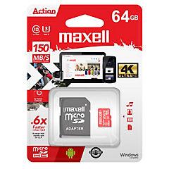 Micro Sd 64 Gb Con Adaptador Uhs-3/ 4K