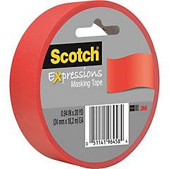 Cinta Masking tape roja 24 mm x 18 metros