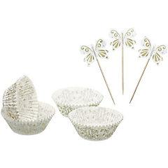 Set moldes de papel + adornos gold 48 uds. sweetly does it