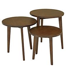 Juego de mesa color nogal, cubierta y estructura madera roberwood