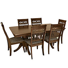 Comedor color cappuccino doble piña, estructura madera roberwood