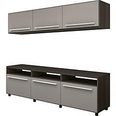 Rack de TV 40,5x180x180 cm café/gris