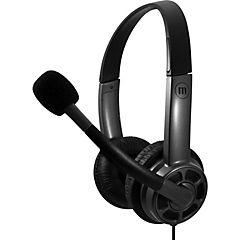 Audífono con micrófono estéreo con conexión usb