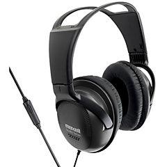 Audífono full size con micrófono negro