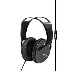 Audífono full size con micrófono gris