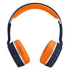 Audífono bluetooth mxh-bt800 azul marino/naranjo