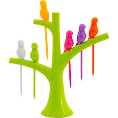 Set 6 pincho + base árbol