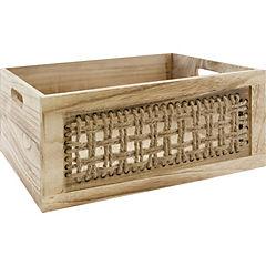 Caja madera tejido 23x15x15 cm