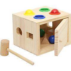 Juguete de madera cajita para martillar