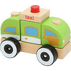 Juguete de madera taxi