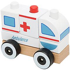 Juguete de ensamble de madera ambulancia