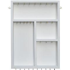 Joyero MDF 36x50x5 cm, blanco