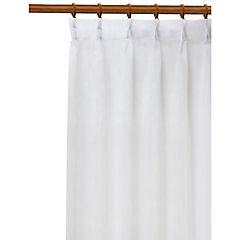 Velo liso Pinzas 140x220 cm blanco