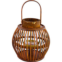 Portavela Eco bambú 15 cm