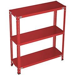 Estantería rojo 3 bandejas 90x30x100 cm